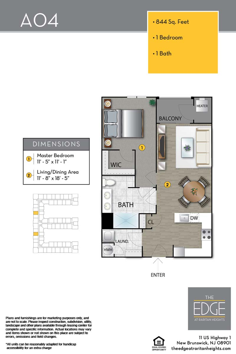 The Edge At Raritan Heights Apartment Floor Plan A04