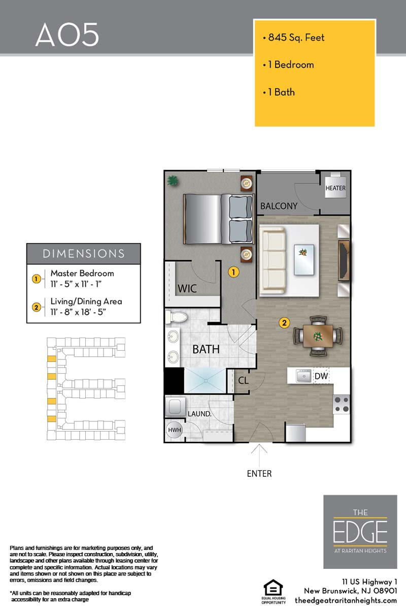 The Edge At Raritan Heights Apartment Floor Plan A05