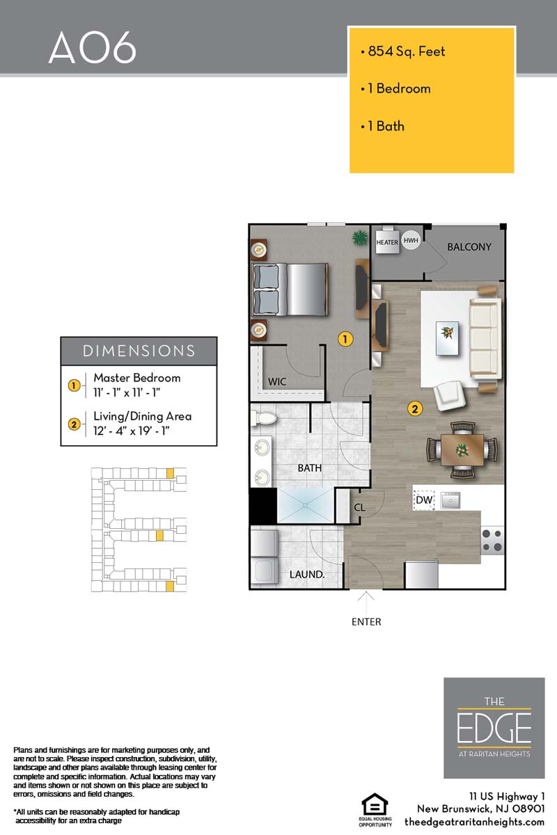 The Edge At Raritan Heights Apartment Floor Plan A06