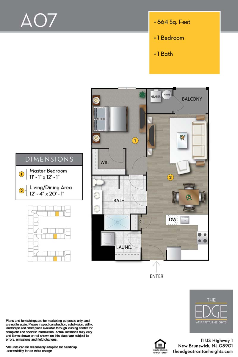 The Edge At Raritan Heights Apartment Floor Plan A07