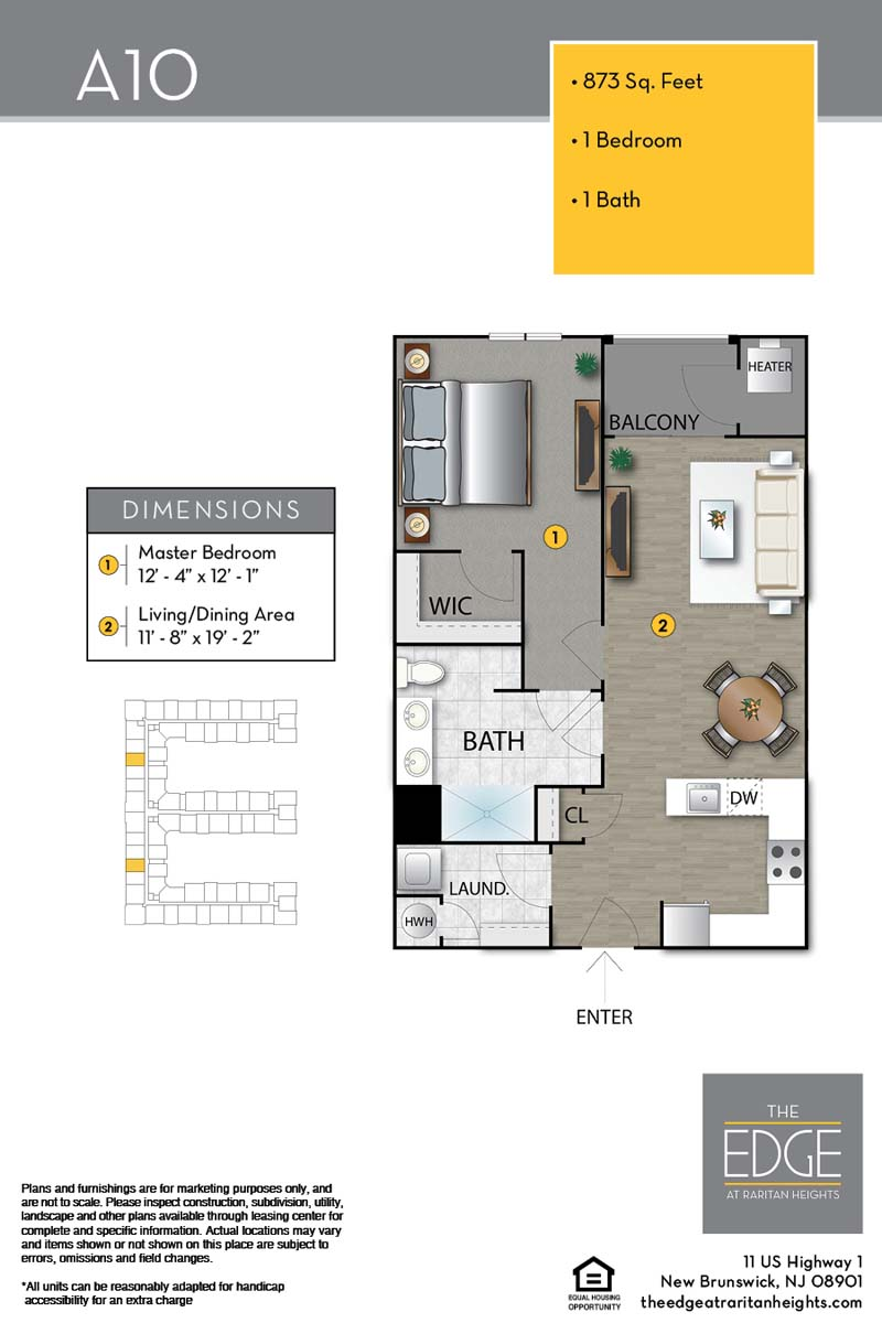 The Edge At Raritan Heights Apartment Floor Plan A10
