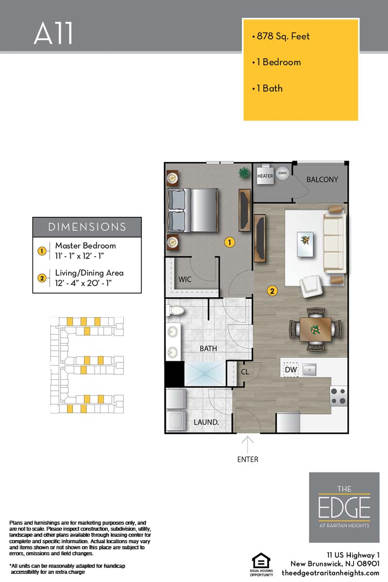 The Edge At Raritan Heights Apartment Floor Plan A11
