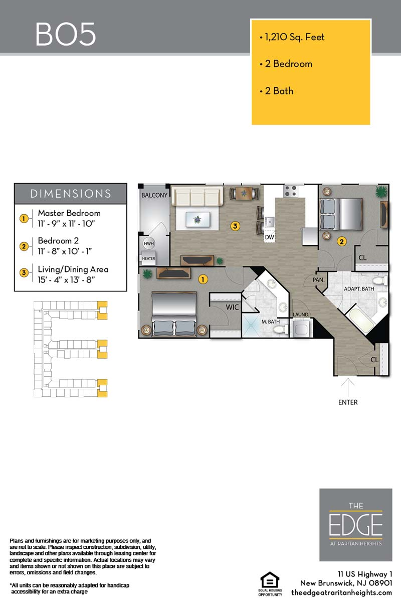 The Edge At Raritan Heights Apartment Floor Plan B05