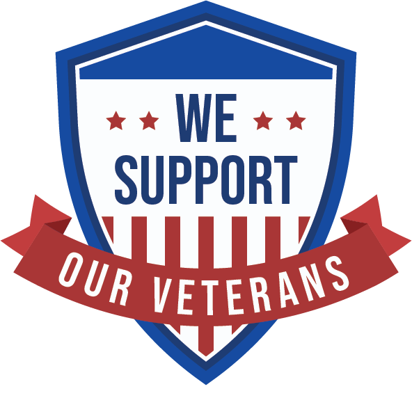 We Support Our Veterans badge